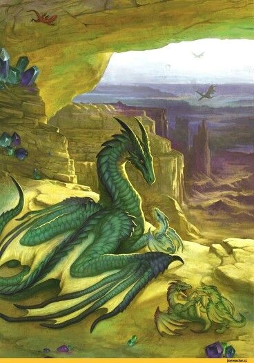 dragon green baby cliff dragons