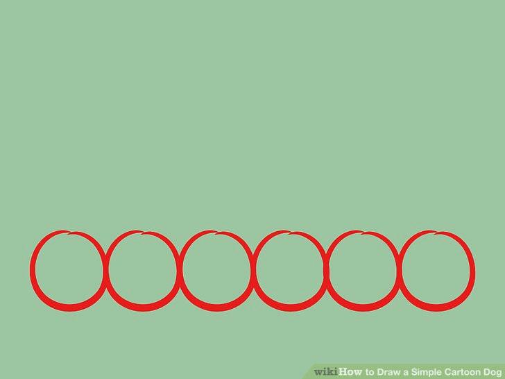 image titled draw a simple cartoon dog step 01