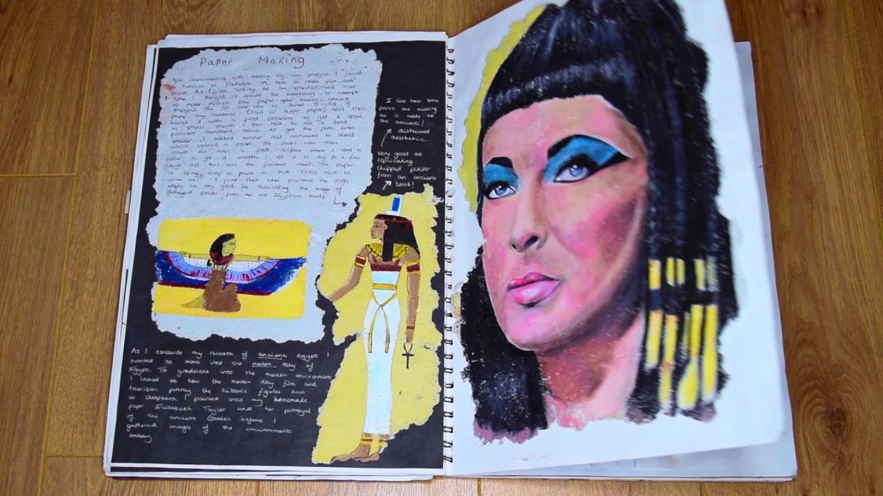 how to set out an a level gcse art sketchbook a grade