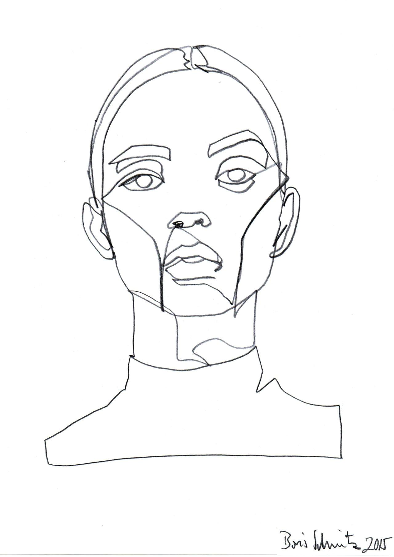 borisschmitz gaze 324 continuous line drawing by boris schmitz