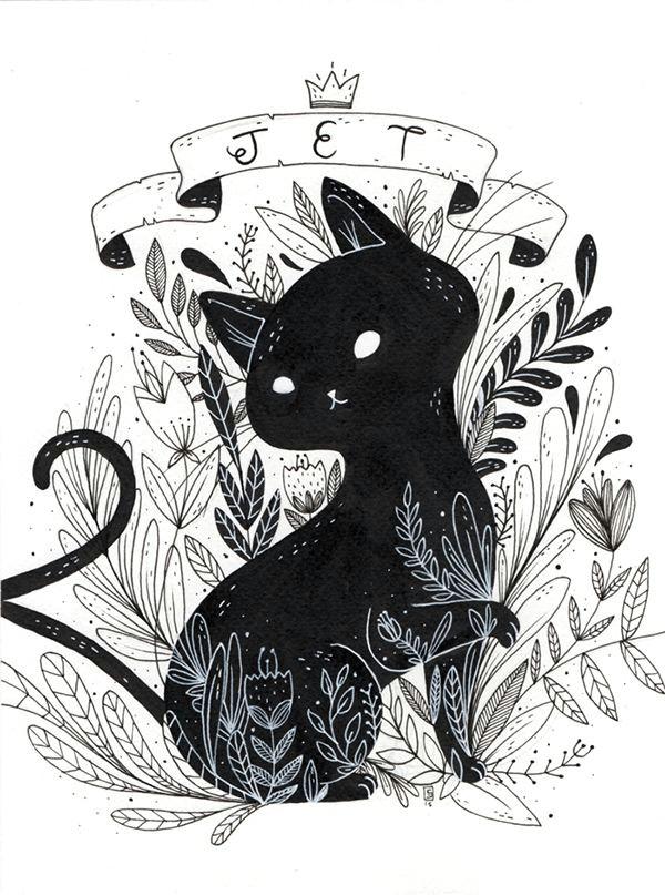 kitty art illustration cat art art