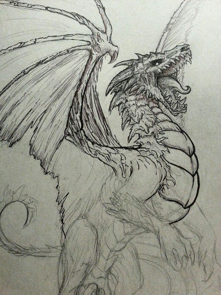 undead dragon sketch by crystalsully on deviantart
