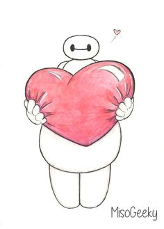 this is so cute i don t know why but it is baymax drawing