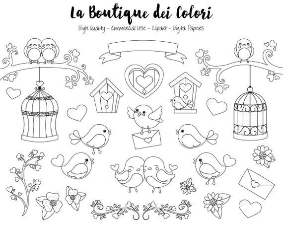 valentine s day birds digital stamps clipart cute png graphics love birds clip art