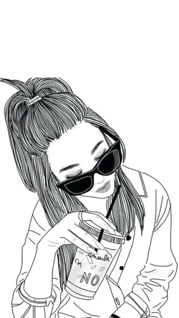 outlines tumblr i i i i i i i i i google art girl hipster girl drawing girl drawings tumblr
