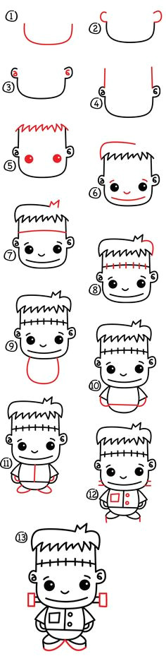 how to draw frankenstein art for kids hub what s halloweenhalloween doodleeasy
