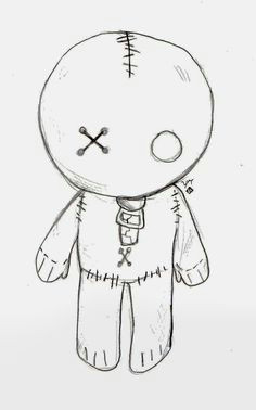 emo doll cute easy drawingssimple