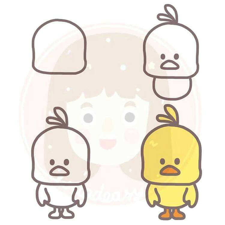 draw a cute chick step by step