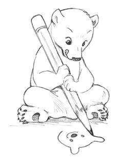bear drawed a bear polar bear drawing cute animal drawings pencil drawings cute