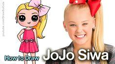 how to draw jojo siwa