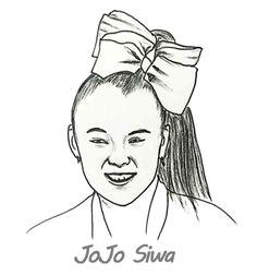 jojo siwa coloring sheet for kids printable jojo siwa colouring book pictures