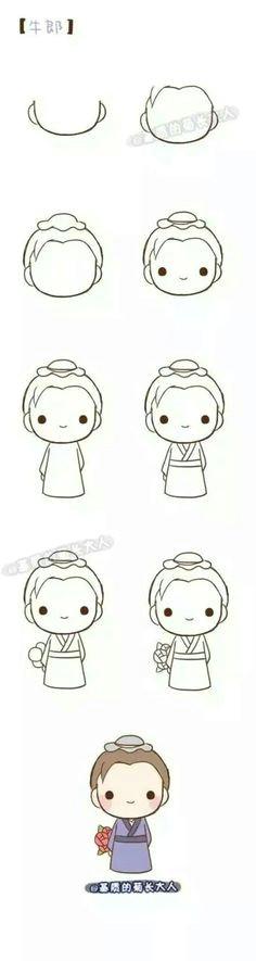 kawaii drawings cartoon drawings kawaii girl drawing easy chibi drawings simple cute