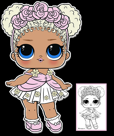 flower child series 3 l o l surprise doll coloring page