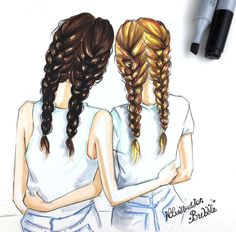 we are best friends forever cool girl drawings cute drawings tumblr tumblr sketches