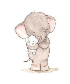 cute elephants drawings