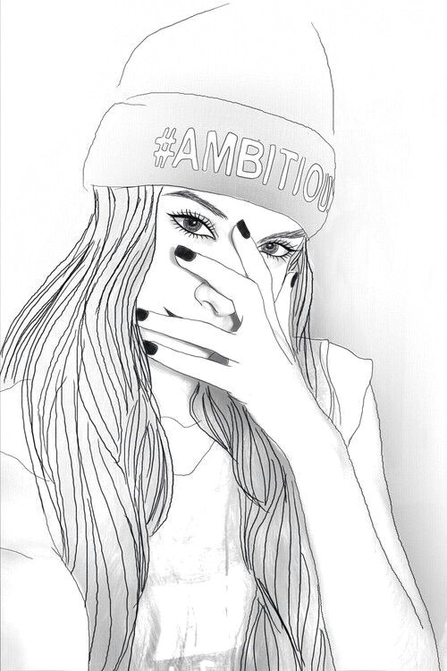 Cute Drawing On Tumblr Pin by Mbasini Sagnia On Drawing Drawings Tumblr Outline Art