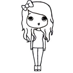 chibi template easy drawings kawaii drawings chibi girl drawings cartoon drawings drawing