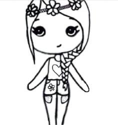 flower child chibi chibi girl drawings cute drawings kawaii drawings disney drawings