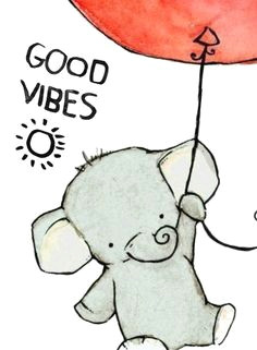 good vibes d uploaded by amy on we heart it cute elephant drawingelephant