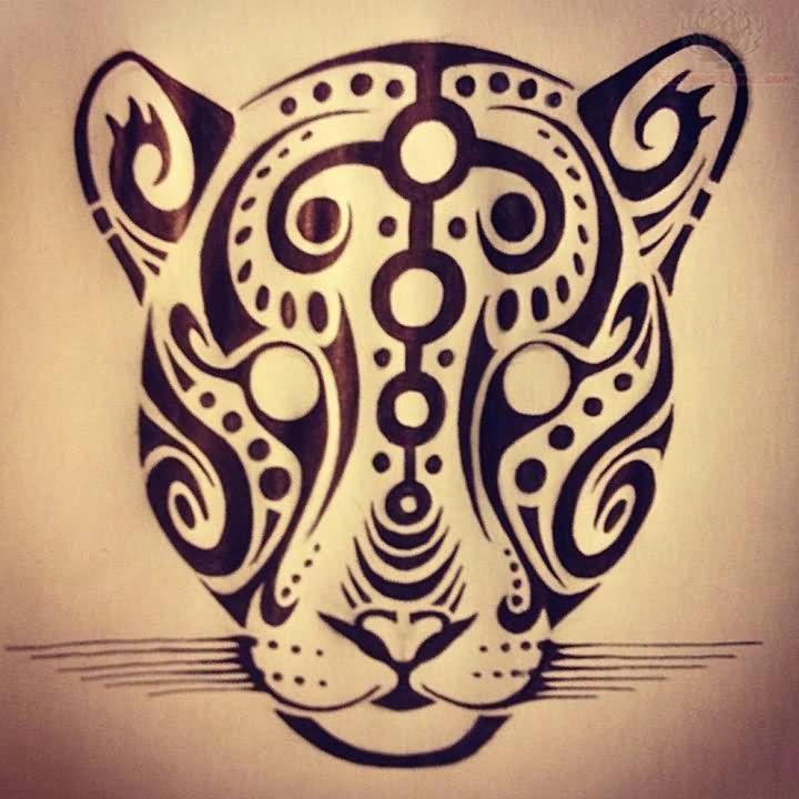 jaguar face tattoo design