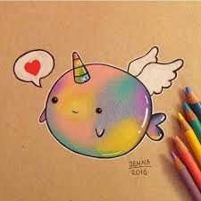 image result for narwhal drawing cute