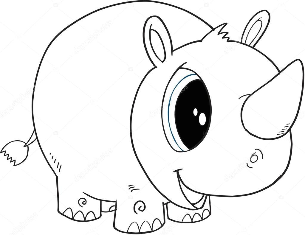 a adny rhino ilustracji wektorowych wektor od misterelements