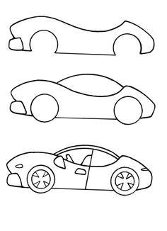 makkelijk en snel een auto tekenen car drawing kids car drawing easy car
