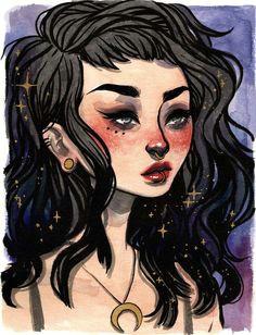 jacqueline deleon art cute art fantasy art witch art ursula anime