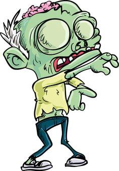 january 1 2014 teenage zombie cartoon in skinny jeans