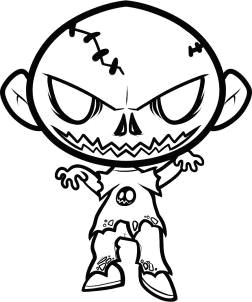 how to draw a halloween zombie halloween zombie step by step zombies monsters free online drawing tutorial added by dawn october 17 2011 3 50 08 am