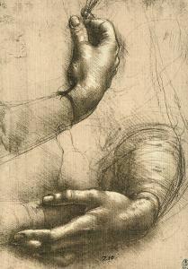 study of female hands drawing royal library windsor a leonardo da vinci