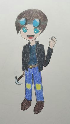 i drew some fanart of dantdm i think it s good for a first time i