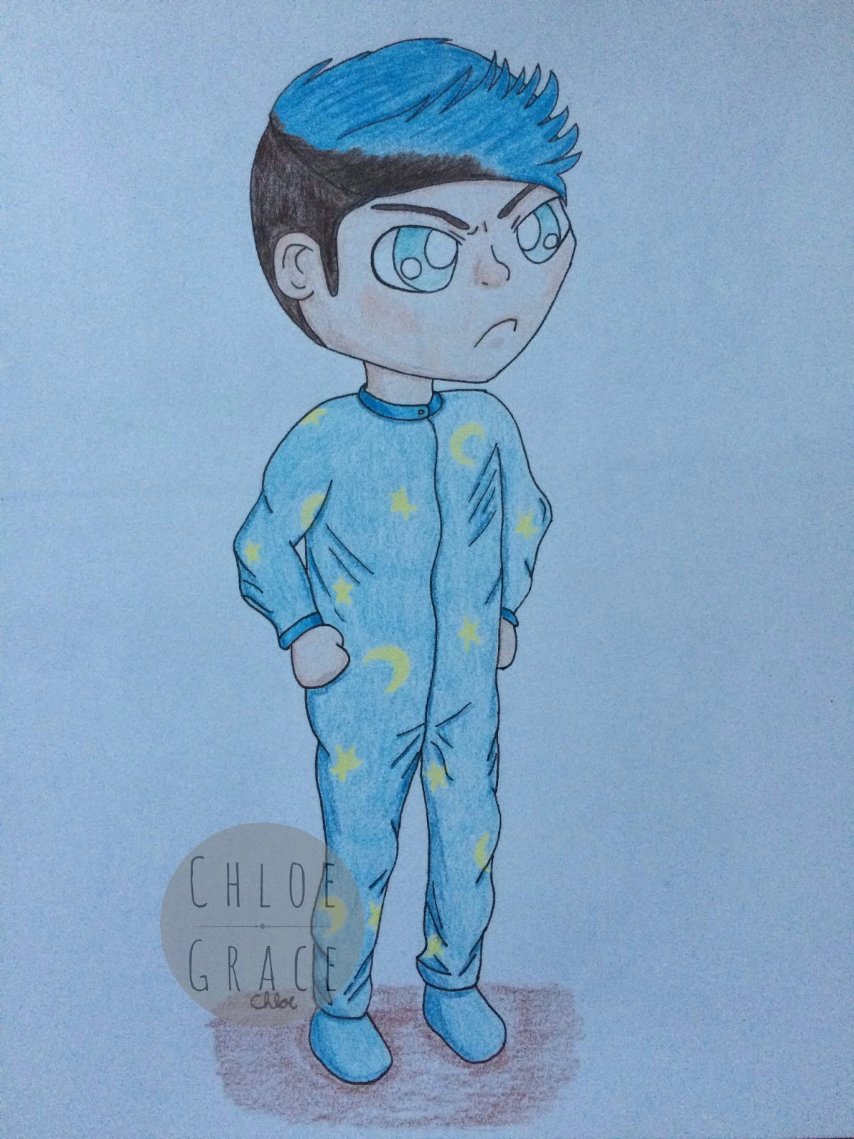 i love drawing fan art so much xd i watched dantdm play this game called among the sleep really cool game you should see it