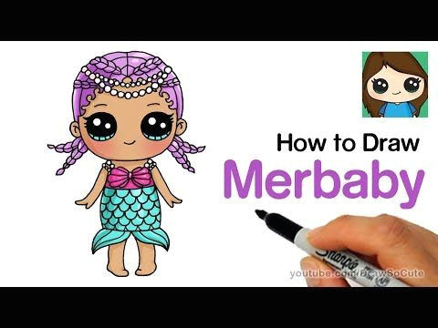 how to draw merbaby easy lol surprise doll youtube