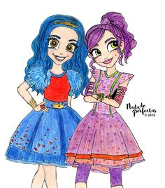 best friends in good and bad times as mal and evie mejores amigas en