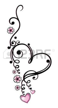 image result for heart and little hearts tattoo behind ear awesometattoodesignsandideas