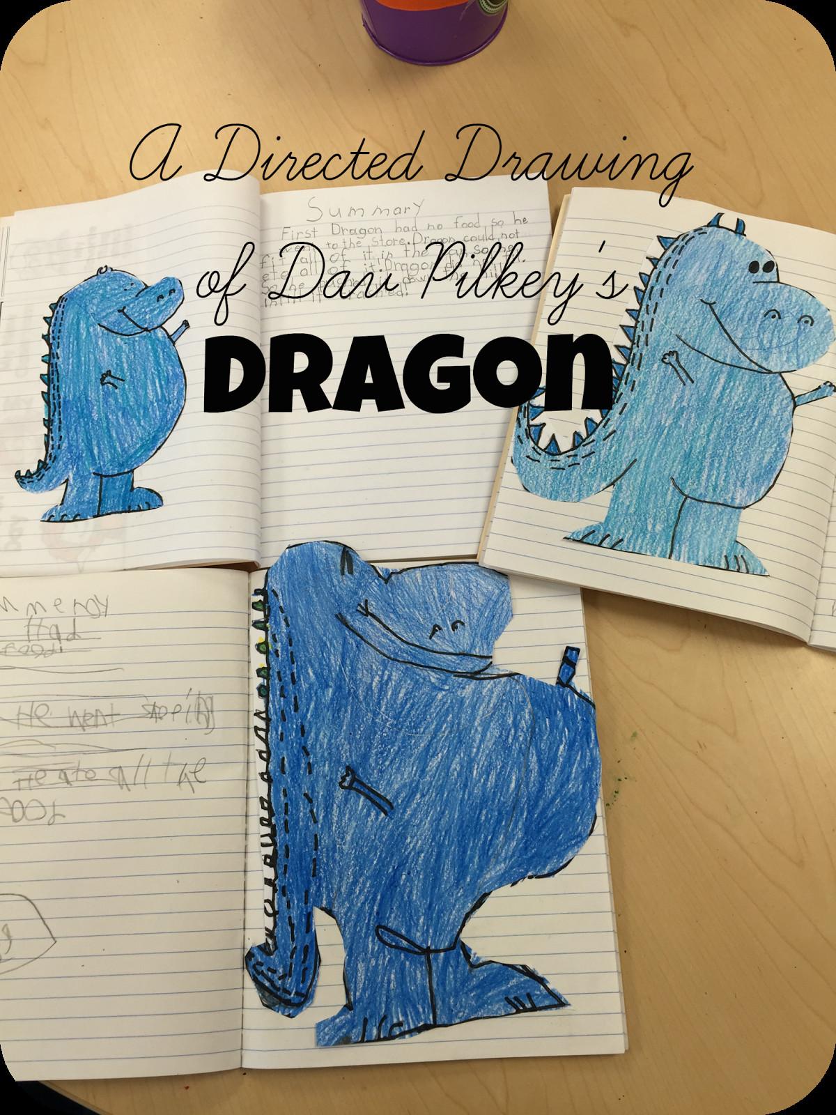 teaching in stripes directed drawing dav pilkey s dragon