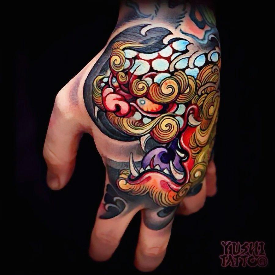 love this foo dog hand tattoo curatedtattoo