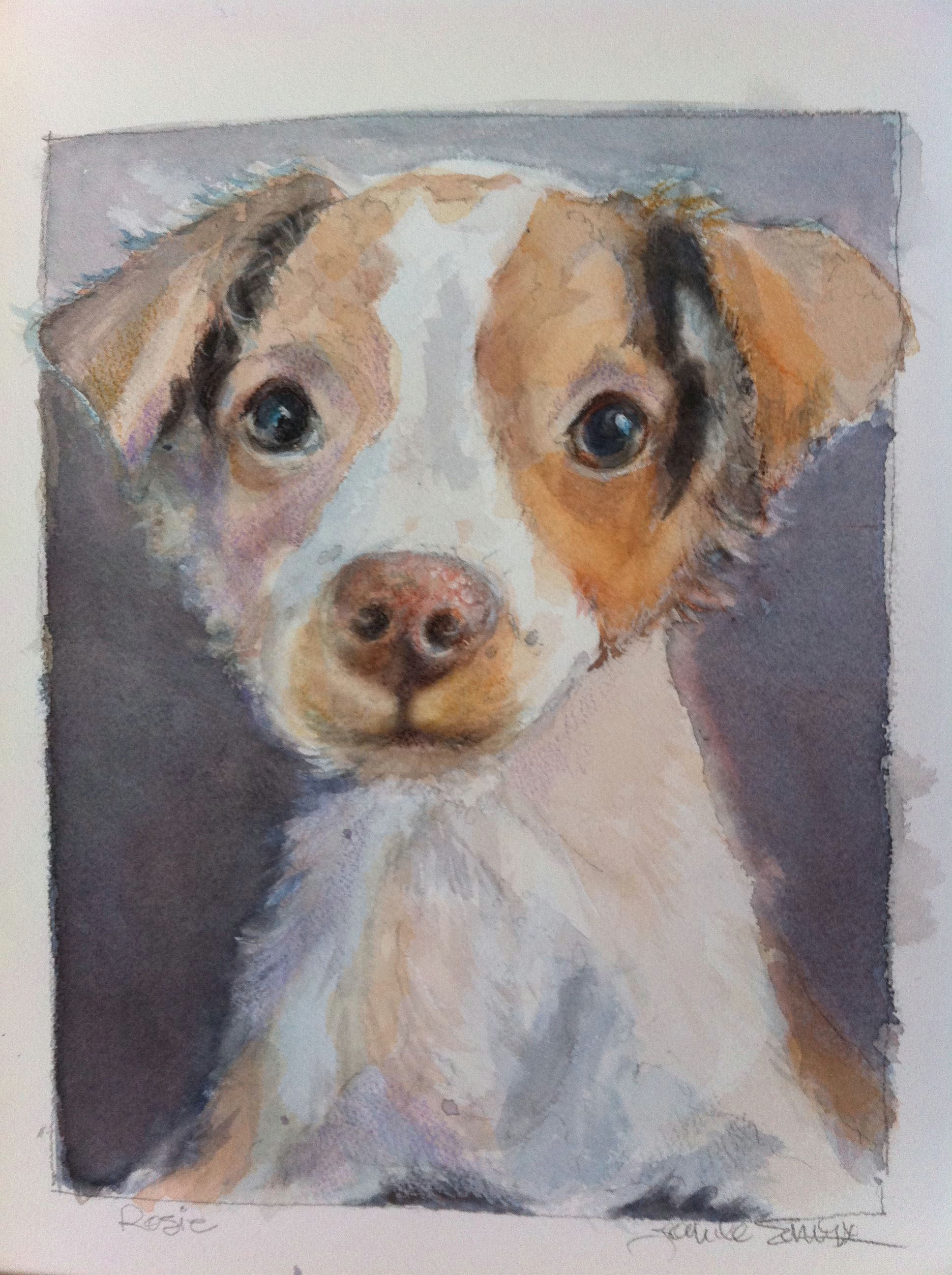 water colors a watercolor drawing a sweet friend joneile emery watercolor joneilesart com dog portraits