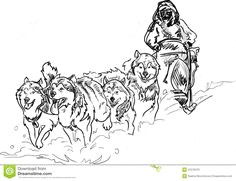 sled dog coloring pages stock photo alaskan sled dogs dog pictures to color