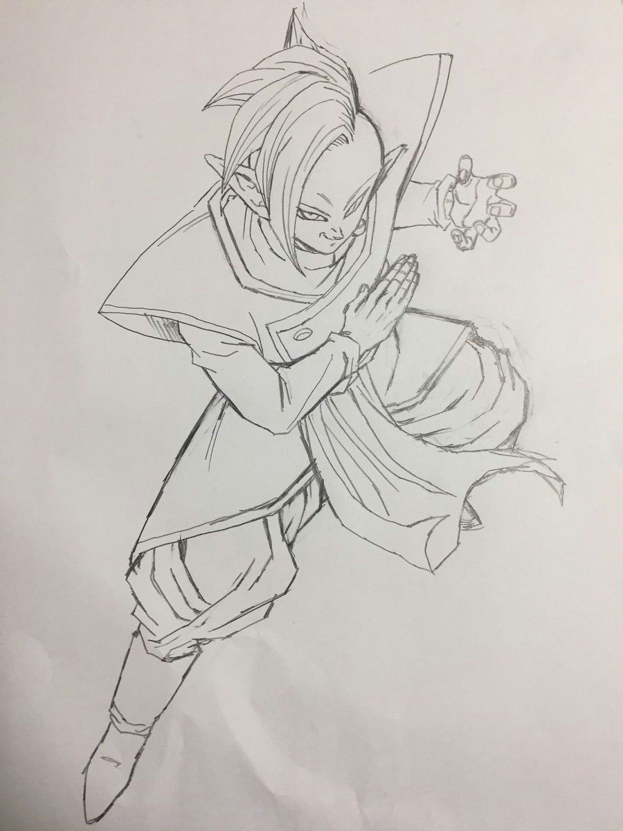 zamasu bringer of despair drawn by young jijii found by songokukakarot