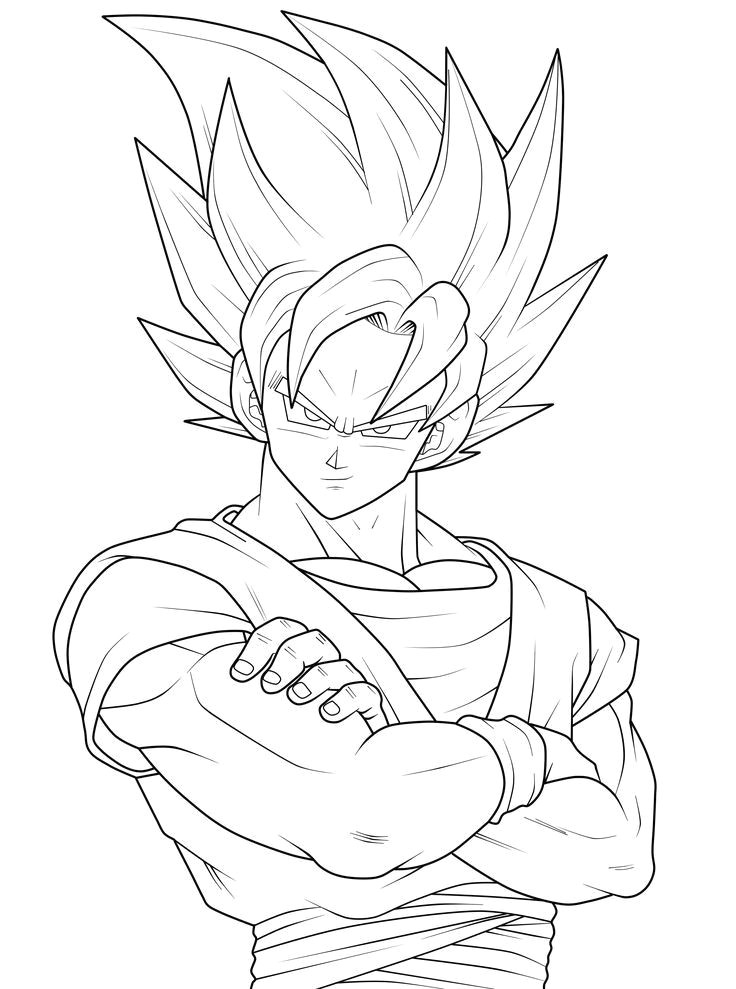 print goku goku coloring pages a goku coloring pages 10 visit now for 3d dragon ball z compression shirts now on sale
