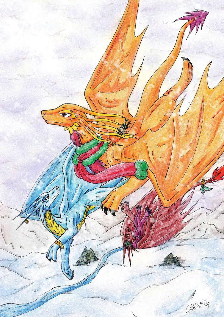 christmas flight by chibimieze