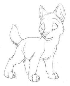 va sledok vyha adavania obrazkov pre dopyt draw an anime wolf pup