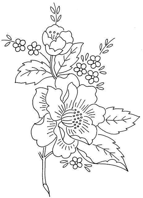 colour it sew it trace it etc flower spray 1 flickr photo sharing