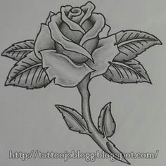 how to draw a simple rose tattoo style step by step tutorial drawing lessons
