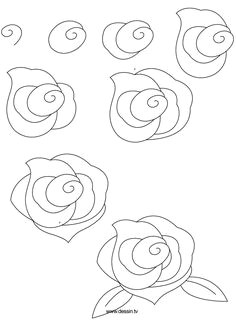 if you want to draw a simple tulip rose on piece of paper just start with the green dot petals right or to the left to know more details about how to draw
