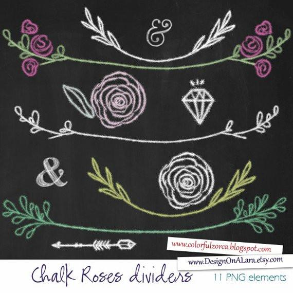 chalkboard wedding clipart chalk roses clipart chalk laurels clip art digital chalkboard laurels