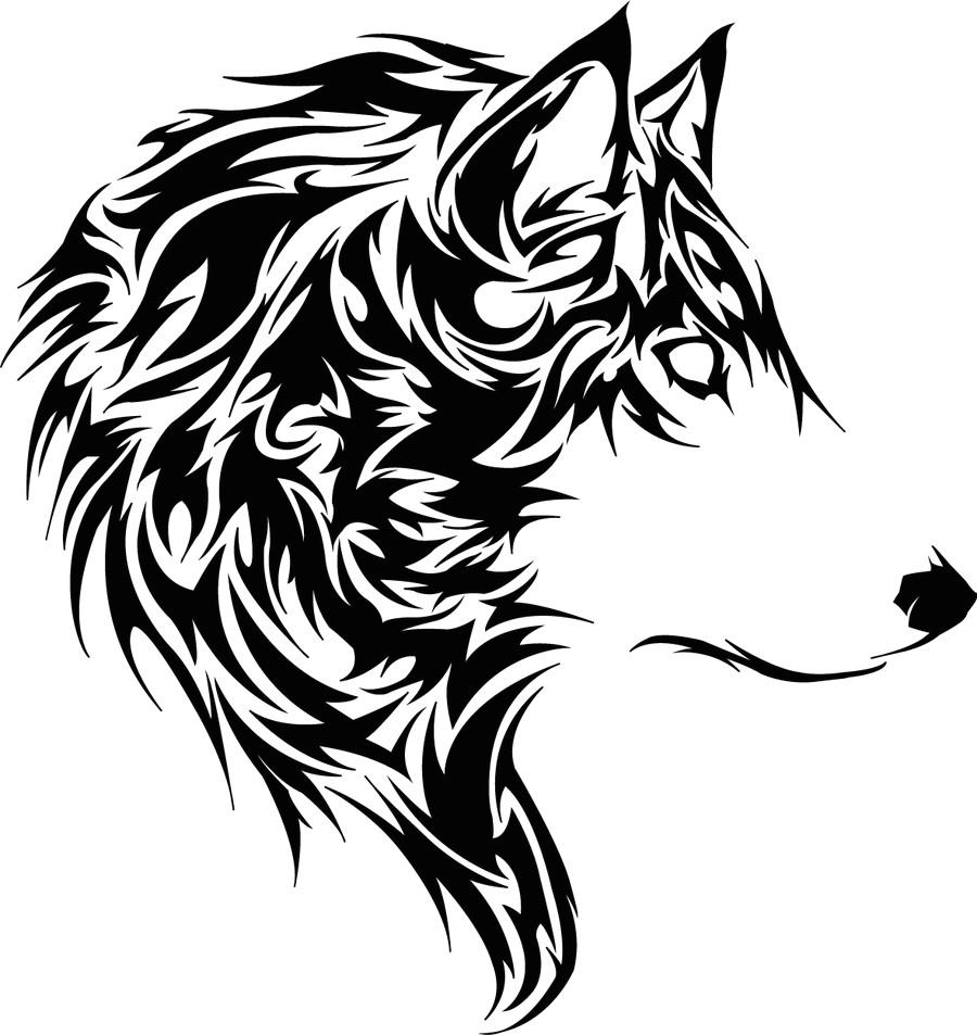 tribal tiger tattoo designs tete de loup tribal free download tattoo 32125 tete de loup tribal