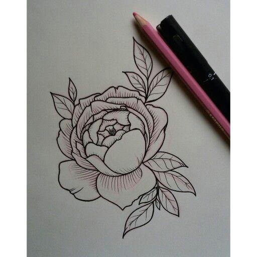 english rose tattoo sketch vanessa core